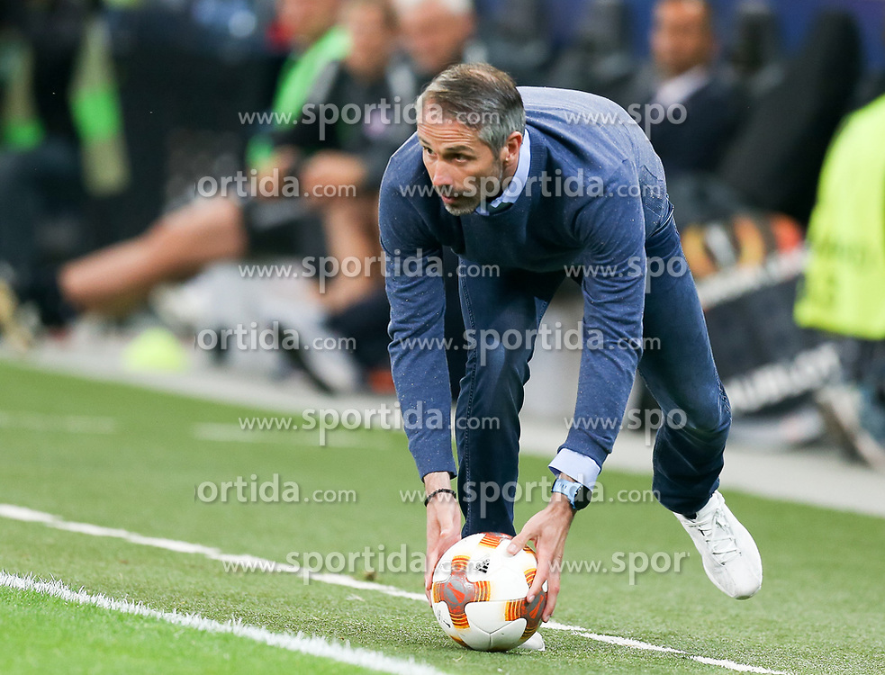 03.05.2018, Red Bull Arena, Salzburg, AUT, UEFA EL, FC Salzburg vs Olympique Marseille, Halbfinale, Rueckspiel, im Bild Trainer Marco Rose (FC Salzburg) // during the UEFA Europa League Semifinal, 2nd Leg Match between FC Salzburg and Olympique Marseille at the Red Bull Arena in Salzburg, Austria on 2018/05/03. EXPA Pictures © 2018, PhotoCredit: EXPA/ Roland Hackl