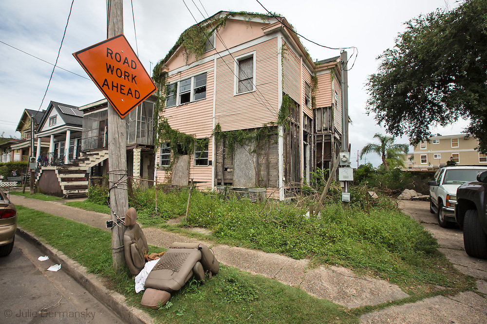 June 13, 2015, New Orleans, LA, Blighted home in mid-city.<br /> Properties destroyed by Hurricane Katrina, remain scattered around New Orleans nearly ten years after the storm.