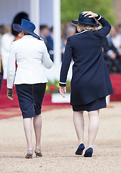 LONDON - UK- 12th July 2017:  UK Prime Minister Theresa May and Amber Rudd.<br /> The arrival ceremony of HM The King and Queen of Spain in London. King Felipe and Queen Letizia arrive for the official arrival ceremony on Horseguards in London and greeted by HM Queen Elizabeth and HRH The Duke of Edinburgh<br /> Photo by Ian Jones