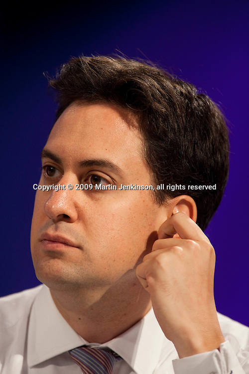 Ed Milliband MP, speaking at the TUC Conference 2009...© Martin Jenkinson, tel 0114 258 6808 mobile 07831 189363 email martin@pressphotos.co.uk. Copyright Designs & Patents Act 1988, moral rights asserted credit required. No part of this photo to be stored, reproduced, manipulated or transmitted to third parties by any means without prior written permission.