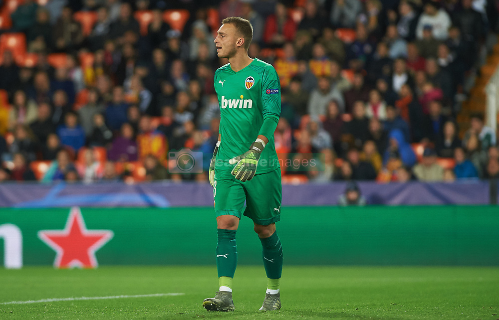 November 5, 2019, Valencia, Valencia, Spain: Jasper Cillesen of Valencia during the during the UEFA Champions League group H match between Valencia CF and Losc Lille at Estadio de Mestalla on November 5, 2019 in Valencia, Spain (Credit Image: © AFP7 via ZUMA Wire)