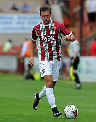 Exeter City's Lee Holmes  - Photo mandatory by-line: Harry Trump/JMP - Mobile: 07966 386802 - 18/07/15 - SPORT - FOOTBALL - Pre Season Fixture - Exeter City v Bournemouth - St James Park, Exeter, England.