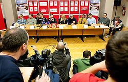 Press conference of boxers IBF World Champion Dejan Zavec - Jan Zaveck (SLO) and Paul Delgado (USA) before their WTC IBF Match, on February 14, 2011 in Ljubljana, Slovenia. (Photo By Vid Ponikvar / Sportida.com)