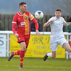 TELFORD COPYRIGHT MIKE SHERIDAN Matt Stenson of Telford (on loan from Solihull Moors) during the Vanarama Conference North fixture between AFC Telford United and Gloucester City at Jubilee Stadium, Evesham on Saturday, December 28, 2019.<br /> <br /> Picture credit: Mike Sheridan/Ultrapress<br /> <br /> MS201920-037
