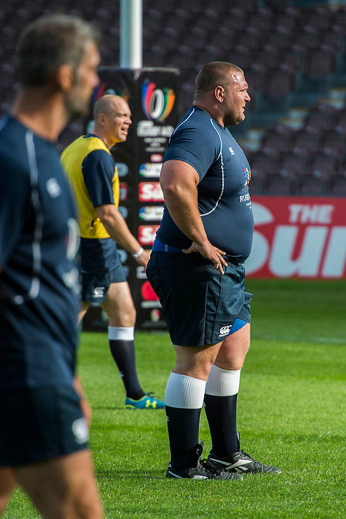 Terry Hollands (Englkands strongest amn) - Training starts for inaugural RUGBY AID 2015 charity match which takes place on Friday 4th September 2015 at the Twickenham Stoop. The celebrity charity game will be in aid of RUGBY FOR HEROES  of which Mike Tindall MBE is Patron. The charity raises funds and awareness through the sport of rugby, the fan community and the wider professional player network, to support military personnel who are making the transition back from military service to civilian life. The teams (England v's Rest of the World) include former international rugby players, celebrities and serving members of the armed forces. Harlequins Rugby , The Stoop, Twickenham, London UK, 02 Sept 2015