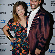 Tarek Nseir,Lucie Nseir attend the Gay Times Honours on 18th November 2017 at the National Portrait Gallery in London, UK.