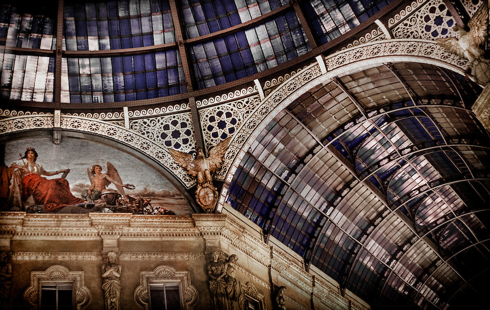 Detail of the Galleria Vittorio Emanuele II in Milan, Italy.