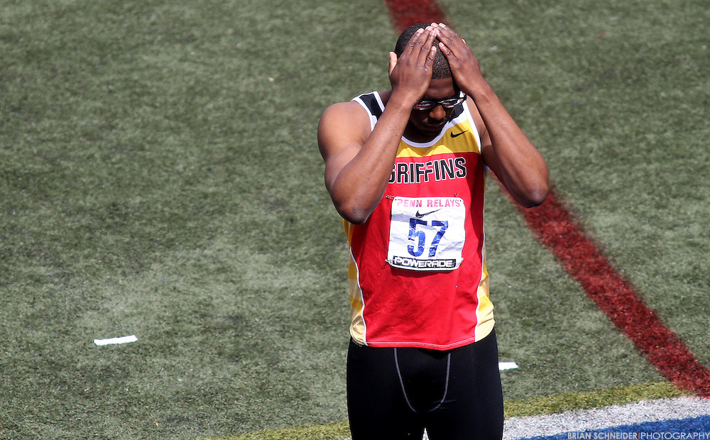 April 27, 2012; Philadelphia, PA, USA; Gwynedd Mercy Justin Turner at the Penn Relays at Franklin Field in Philadelphia, PA. Mandatory Credit: Brian Schneider-www.ebrianschneider.com