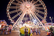 Oct. 21, 2009 -- PHOENIX, AZ: La Grande Wheel ferris wheel on the midway at the Arizona State Fair in Phoenix, AZ. The fair runs through November 8.   Photo by Jack Kurtz