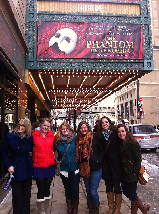 Students see Phantom of the Opera in Chicago Feb. 2, 2014. Photos by Paige Stanton paige.stanton@valpo.edu