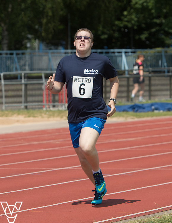 Metro Blind Sport's 2017 Athletics Open held at Mile End Stadium.  800m.  Matthew Boulding<br /> <br /> Picture: Chris Vaughan Photography for Metro Blind Sport<br /> Date: June 17, 2017
