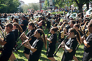 The Marching 110 play at the student activies fair on College Green. Photo by Ben Siegel