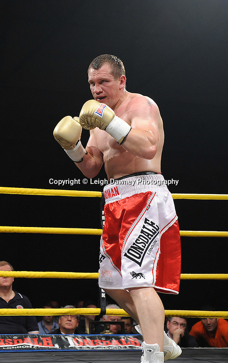 Konstantin Airich (pictured) defeats Lucian Bot in Quarter Final 4 at Prizefighter International on Saturday 7th May 2011. Prizefighter / Matchroom. Photo credit © Leigh Dawney. Alexandra Palace, London.