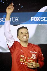 Andres D'Alessandro comemora a conquista da Recopa Sulamericana 2011 após venceer por 3x1 o Independiente, da Argentina, no Estadio Beira Rio em Porto Alegre. FOTO: Jefferson Bernardes/Preview.com