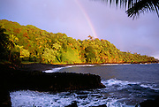 Rainbow, Waianapanapa Black Sand Beach, Hana Coast, Maui, Hawaii