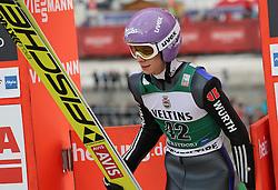 03.02.2017, Heini Klopfer Skiflugschanze, Oberstdorf, GER, FIS Weltcup Ski Sprung, Oberstdorf, Skifliegen, im Bild Andreas Wellinger (GER) // Andreas Wellinger (GER) during mens FIS Ski Flying World Cup at the Heini Klopfer Skiflugschanze in Oberstdorf, Germany on 2017/02/03. EXPA Pictures © 2017, PhotoCredit: EXPA/ Sammy Minkoff<br /> <br /> *****ATTENTION - OUT of GER*****