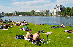 Summer day at Treptower Park in Berlin Germany