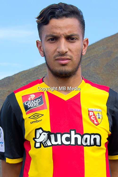 Abdellah Zoubir during the photocall of Lens for new season on October 17th 2016