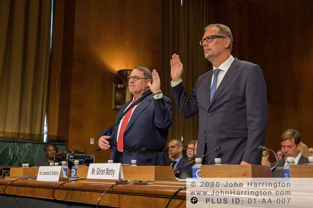 "Being sworn in are The Honorable Lawrence E. Strickling, Assistant Secretary for Communications and Information and Administrator<br /> National Telecommunications and Information Administration (NTIA), United States Department of Commerce;  Mr. Göran Marby, CEO and President, Internet Corporation for Assigned Names and Numbers (ICANN) Wednesday September 14, 2016, before the Subcommittee on Oversight, Agency Action, Federal Rights and Federal Courts, testimony was also heard from The Honorable Lawrence E. Strickling, Assistant Secretary for Communications and Information and Administrator<br /> National Telecommunications and Information Administration (NTIA), United States Department of Commerce;  Mr. Göran Marby, CEO and President, Internet Corporation for Assigned Names and Numbers (ICANN); Mr. Berin Szoka, President, TechFreedom; Mr. Jonathan Zuck, President, ACT The App Association;  Ms. Dawn Grove, Corporate Counsel<br /> Karsten Manufacturing; Ms. J. Beckwith (""Becky"") Burr, Deputy General Counsel and Chief Privacy Officer, Neustar;  Mr. John Horton, President and CEO, LegitScript;  Mr. Steve DelBianco, Executive Director, NetChoice; Mr. Paul Rosenzweig, Former Deputy Assistant Secretary for Policy, U.S. Department of Homeland Security."