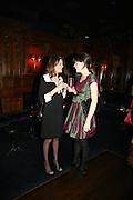 Genevieve Chapman and Laura Cathcart, Tatler's Little Black Book party. Tramp. Jermyn St.  London. 7 November 2007. -DO NOT ARCHIVE-© Copyright Photograph by Dafydd Jones. 248 Clapham Rd. London SW9 0PZ. Tel 0207 820 0771. www.dafjones.com.