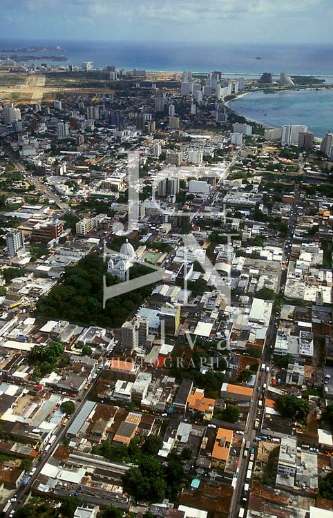 Vista aerea de Porlamar, Isla de Margarita, Estado Nueva Esparta, Venezuela
