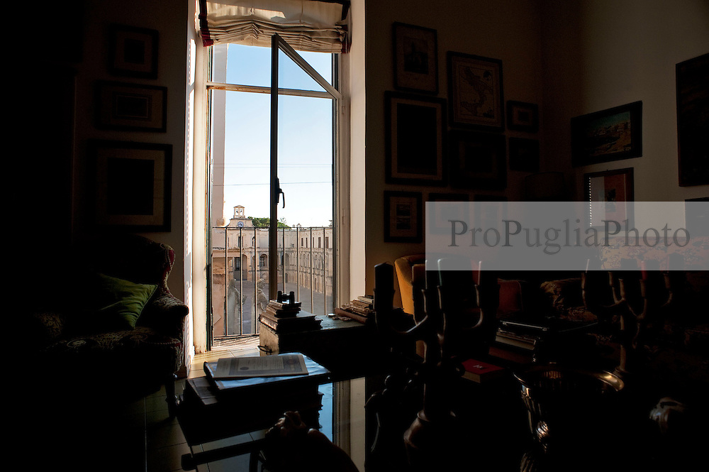 Lecce 20 ottobre 2012..Appartamento nel centro storico di Lecce con vista su Piazza Duomo