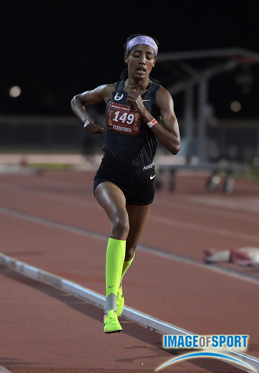 May 2, 2019; Stanford, CA, USA; Sifan Hassan (ETH) wins the women's 10,000m in 31;18.12 during the 24th Payton Jordan Invitational at Cobb Track & Angell Field.