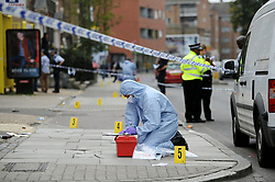 © Licensed to London News Pictures. 26/09/2007. London, UK Three people are in hospital with non-life-threatening injuries after shots were fired at a private party in Homerton High St, LONDON in the early hours of the morning on Saturday 28th September.e. Photo credit : LNP