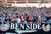 ALKMAAR - 09-08-2015, AZ - Ajax, AFAS Stadion, 0-3, supporters, supporter.