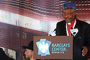 11 March 2010- New York, NY- Rev.Dr.Herbert Daughtry at the Ground breaking at The Atlantic Yards for the Barclay Center, which will be the future home for the Brooklyn Nets on March 11, 2010 in Brooklyn New York. Photo Credit: Terrence Jennings