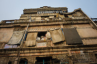 NEW DELHI, INDIA - CIRCA OCTOBER 2016: Typical facade in Chandni Chowck Delhi.