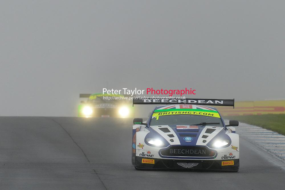 Rory Butcher (GBR) / Andrew Howard (GBR)  #1 Beechdean AMR  Aston Martin V12 Vantage GT3  Aston Martin 6.0L V12. British GT Championship at Donington Park, Melbourne, Leicestershire, United Kingdom. September 10 2016. World Copyright Peter Taylor/PSP.