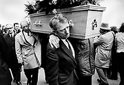 Belfast, Northern Ireland, the funeral of a mother killed in the crossfire between members of the IRA and the British Army 1973. She left three small children.