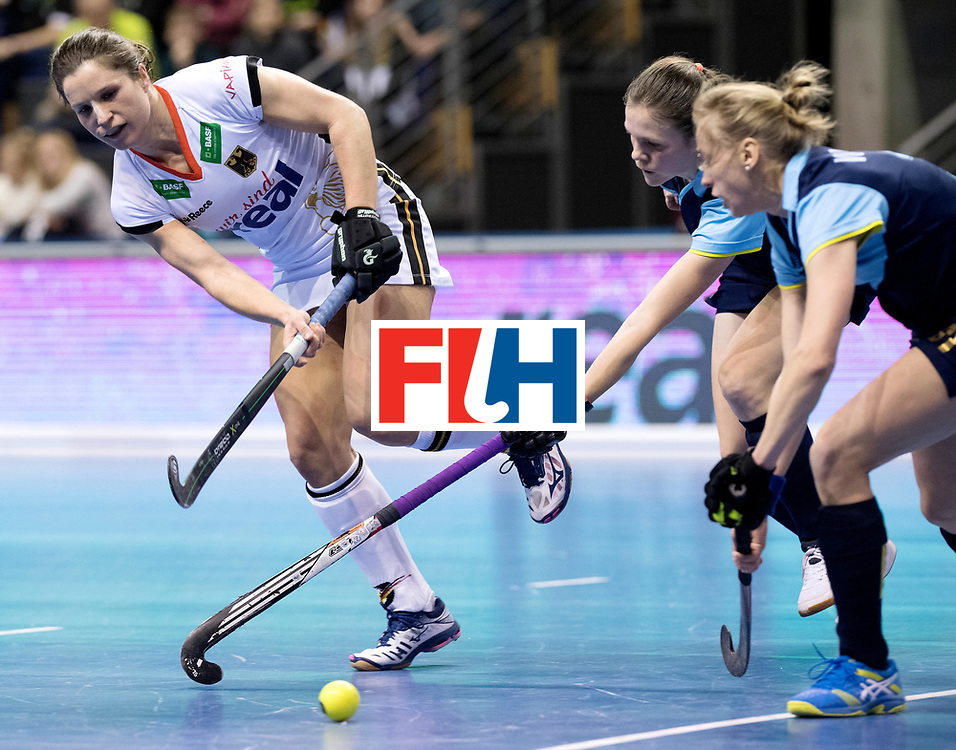BERLIN - Indoor Hockey World Cup<br /> Women: Ukraine - Germany<br /> foto: Luisa Steindor.<br /> WORLDSPORTPICS COPYRIGHT FRANK UIJLENBROEK