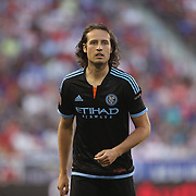 Mix Diskerud, NYCFC, in action during the New York Red Bulls Vs NYCFC, MLS regular season match at Red Bull Arena, Harrison, New Jersey. USA. 10th May 2015. Photo Tim Clayton