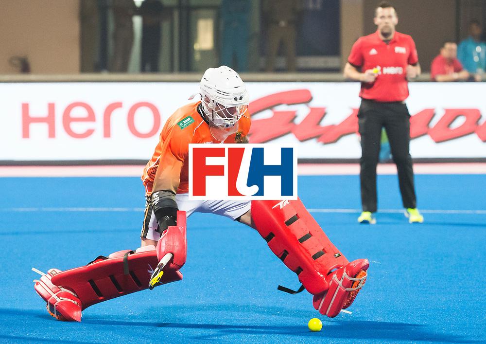BHUBANESWAR - The Odisha Men's Hockey World League Final . Match ID 05 . Germany  v Australia . keeper Mark Appel (Ger) .  WORLDSPORTPICS COPYRIGHT  KOEN SUYK