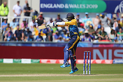 June 28, 2019 - Chester Le Street, County Durham, United Kingdom - Isuru Udana of Sri Lanka batting during the ICC Cricket World Cup 2019 match between Sri Lanka and South Africa at Emirates Riverside, Chester le Street on Friday 28th June 2019. (Credit Image: © Mi News/NurPhoto via ZUMA Press)