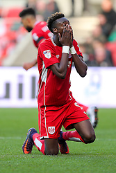 Tammy Abraham of Bristol City looks frustrated - Rogan Thomson/JMP - 22/10/2016 - FOOTBALL - Ashton Gate Stadium - Bristol, England - Bristol City v Blackburn Rovers - Sky Bet EFL Championship.