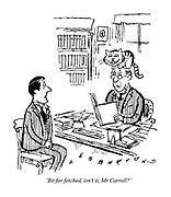 'Bit far fetched, isn't it, Mr Carroll?'