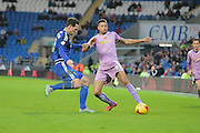 Reading defender Michael Hector and Cardiff City defender Sean Morrison during the Sky Bet Championship match between Cardiff City and Reading at the Cardiff City Stadium, Cardiff, Wales on 7 November 2015. Photo by Jemma Phillips.