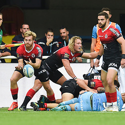 Maxime MARTY of Toulouse  during the Top 14 match between Montpellier and Toulouse on October 19, 2019 in Montpellier, France. (Photo by Alexandre Dimou/Icon Sport) - Maxime MARTY - Altrad Stadium - Montpellier (France)