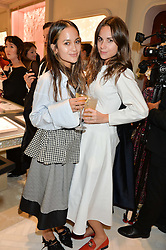 Left to right, ANNA VITIELLO and FLORRIE THOMAS at the opening of the Nirav Modi flagship London store at 31 Old Bond Street, London on 19th September 2016.