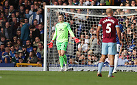 Football - 2018 / 2019 Premier League - Everton vs. West Ham United<br /> <br /> Jordan Pickford of Everton reacts after Andriy Yarmolenko of West Ham United scores his second goal at Goodison Park.<br /> <br /> COLORSPORT/LYNNE CAMERON