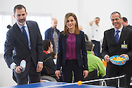King Felipe VI of Spain and Queen Letizia of Spain attended the Event commemorating the 40th anniversary of the National Hospital for Paraplegics on February 10, 2015 in Toledo, Spain