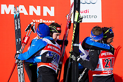 Second placec, Renaud Jay/Sabastian Eisnlaier (FRA) and Third placed, Richard Jouve/Valentin Chauvin (FRA) during the Man team sprint race at FIS Cross Country World Cup Planica 2016, on January 17, 2016 at Planica, Slovenia. Photo By Urban Urbanc / Sportida