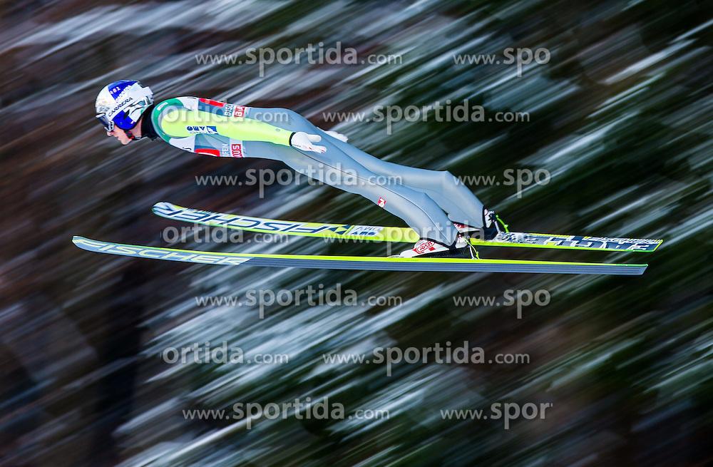 06.01.2015, Paul Ausserleitner Schanze, Bischofshofen, AUT, FIS Ski Sprung Weltcup, 63. Vierschanzentournee, Probedurchgang, im Bild Gregor Schlierenzauer (AUT) // Gregor Schlierenzauer of Austria soars trought the air during his Trial Jump for the 63rd Four Hills Tournament of FIS Ski Jumping World Cup at the Paul Ausserleitner Schanze, Bischofshofen, Austria on 2015/01/06. EXPA Pictures © 2015, PhotoCredit: EXPA/ Johann Groder