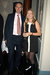 WILLIAM CASH and DAISY PRINCE at a party hosted by Tatler magazine to celebrate the publication of Lunar park by Bret Easton Ellis held at Home House, 20 Portman Square, London W1 on 5th October 2005.<br />