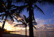 Sunset, Rarotonga, Cook Islands<br />