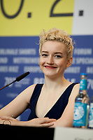 Actress Julia Garner at the press conference for the film The Assistant at the 70th Berlinale International Film Festival, on Sunday 23rd February 2020, Hotel Grand Hyatt, Berlin, Germany. Photo credit: Doreen Kennedy