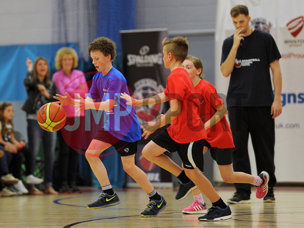 Children participate in Basketball during the Bristol Sport Youth Festival  - Photo mandatory by-line: Dougie Allward/JMP - Mobile: 07966 386802 - 06/06/2015 - SPORT - Multi-Sport - Bristol - SGS Wise Campus - Bristol Sport Festival Of Youth Sport - Festival Of Youth